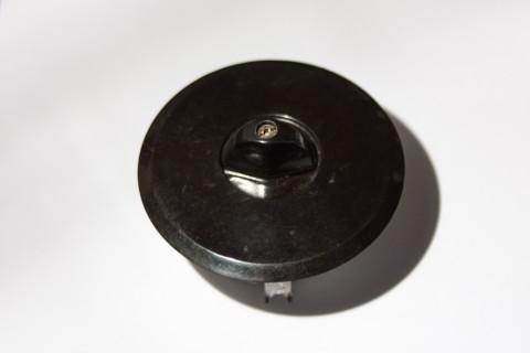 Unterputz Drehschalter Porzellan Seitenansicht