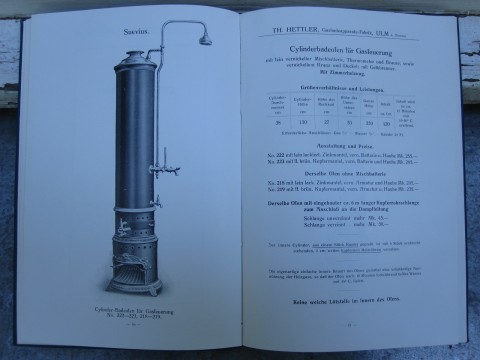 Suevius Badeofen für Gasfeuerung