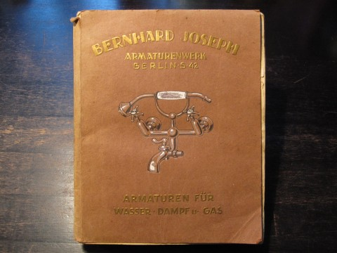 Katalog Bernhard Joseph Armaturenfabrik Berlin 1910