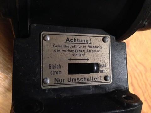 Antrieb für Kleinmaschinen für Gleich und Wechselstrom Hinweisschild