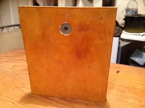 Zier Ofenkachel hellgrün Schilfrohrkolben Motiv Rückseite