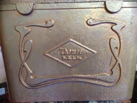 Themse Spülkasten aus gußeisen um 1880 DRGM Jugendstil Ornament