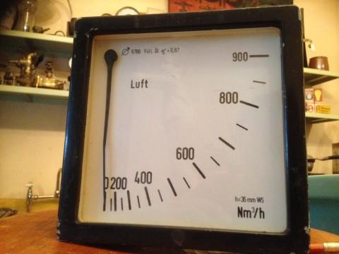 Volumensstrom Anzeige für Luft  Skala