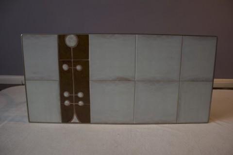 Tisch mit Fliesenauflage um 1970 - 37/41/86 Fliesenplatte