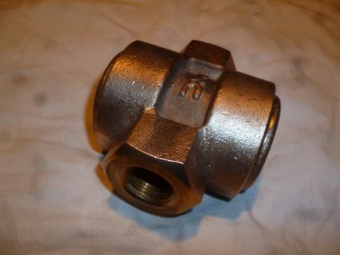 Durchfluss Sichtglas bronze Fitting