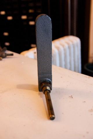Kachel Thermometer Eckform Rückansicht