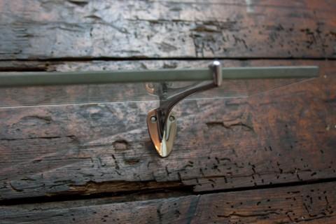 Wandablage aus Glas Halter