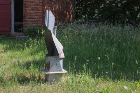 Windfahnenaufsatz für Abluft Seitenansicht