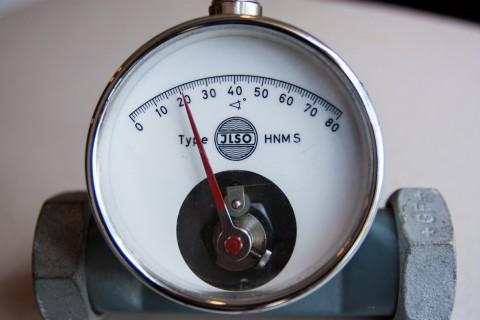 JLSO Durchflussdrosselklappe mit Anzeige Detail
