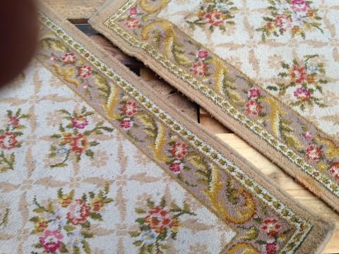 Badezimmer Läufer Teppich floral Detail Rand