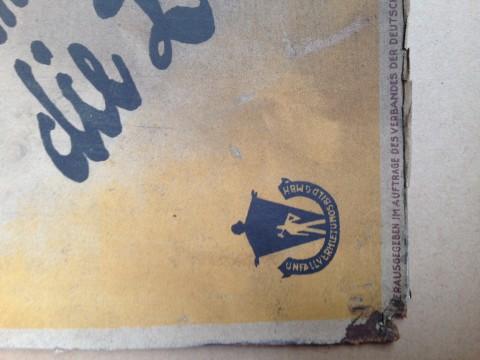 Plakat Berufsgenossenschaft 1930 Herausgeber DBG