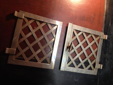 Flügeltüren Ofen Wärmefach aus messing vernickelt Einzelansicht