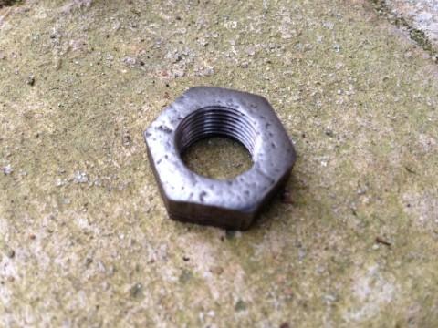 Lampengewinde Mutter 12 mm 50Stck Stahl schwarz um 1930