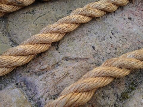 Abschleppseil aus Natur Pflanzenfaser Detail Seil