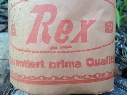 Toilettenpapier Rollen Krepp um 1930 Rex Banderole