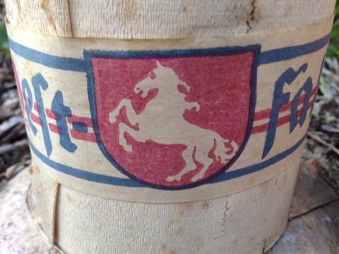 Toilettenpapier Rollen Krepp um 1930 Westfalia Banderole