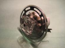 Drehschalter mit Glasknauf und Blende um 1920