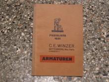 Armaturenpreisliste 1931 C.E.Winzer Wittenberg