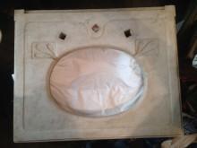 Marmor Waschtisch um 1870 für Unterbaubecken