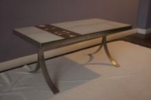 Tisch mit Fliesenauflage um 1970 - 37/41/86