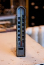 Kachel Thermometer Eckform