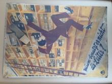 Plakat Berufsgenossenschaft 1930 Warum benutzt er nicht die Leiter