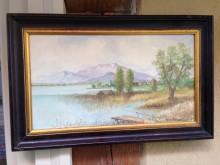 Landschaftsbild oil Hans Arnold Dorfen um 1980